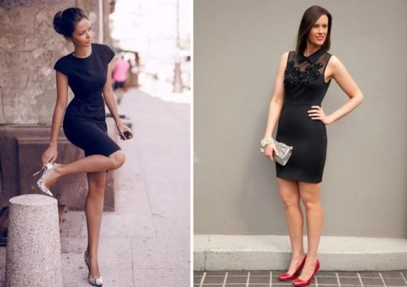 маленькое черное платье для полных женщин с животиком фото